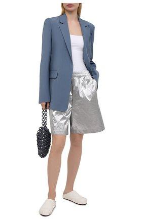 Женские шорты DRIES VAN NOTEN серебряного цвета, арт. 211-10954-2158 | Фото 2