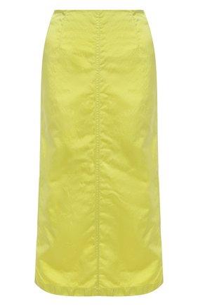 Женская юбка DRIES VAN NOTEN светло-зеленого цвета, арт. 211-10837-2171   Фото 1