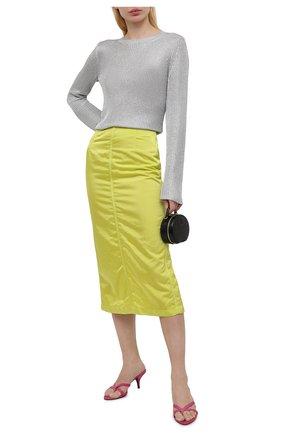 Женская юбка DRIES VAN NOTEN светло-зеленого цвета, арт. 211-10837-2171   Фото 2