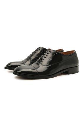 Мужские кожаные оксфорды MAISON MARGIELA черного цвета, арт. S37WQ0320/P3964 | Фото 1 (Материал внутренний: Натуральная кожа; Стили: Классический)