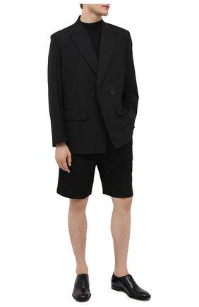 Мужские кожаные оксфорды MAISON MARGIELA черного цвета, арт. S37WQ0320/P3964 | Фото 2 (Материал внутренний: Натуральная кожа; Стили: Классический)