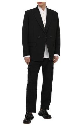Мужские кожаные дерби airbag MAISON MARGIELA черного цвета, арт. S57WQ0157/P3292 | Фото 2 (Материал внутренний: Натуральная кожа; Стили: Классический)