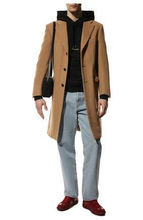 Мужские кожаные кеды replica MAISON MARGIELA красного цвета, арт. S57WS0236/P1897 | Фото 2
