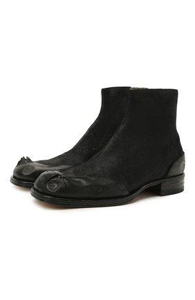 Мужские кожаные сапоги MAISON MARGIELA черного цвета, арт. S57WU0226/P4016 | Фото 1 (Материал внутренний: Натуральная кожа; Мужское Кросс-КТ: Сапоги-обувь; Подошва: Плоская)