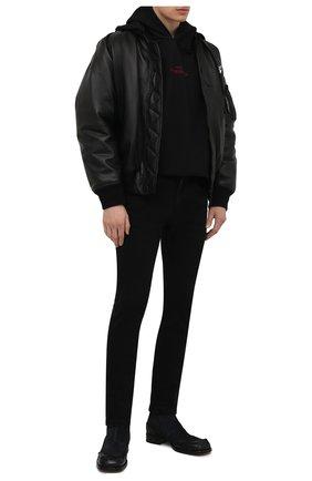 Мужские кожаные сапоги MAISON MARGIELA черного цвета, арт. S57WU0226/P4016 | Фото 2 (Материал внутренний: Натуральная кожа; Мужское Кросс-КТ: Сапоги-обувь; Подошва: Плоская)