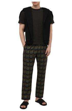 Мужские текстильные шлепанцы MAISON MARGIELA черного цвета, арт. S57WX0074/P3958 | Фото 2 (Материал внутренний: Натуральная кожа; Материал внешний: Текстиль)