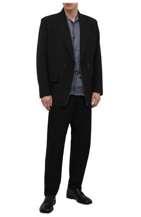 Мужские кожаные дерби tabi MAISON MARGIELA черного цвета, арт. S97WQ0052/P3292 | Фото 2 (Материал внутренний: Натуральная кожа; Стили: Классический)