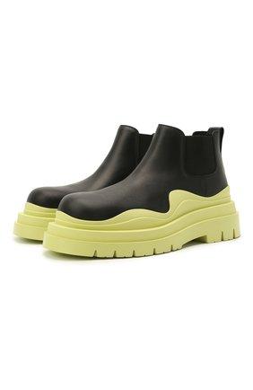 Мужские кожаные челси tire BOTTEGA VENETA светло-зеленого цвета, арт. 630281/VBS50 | Фото 1 (Подошва: Массивная; Мужское Кросс-КТ: Сапоги-обувь, Челси-обувь; Каблук высота: Высокий; Материал внутренний: Натуральная кожа)