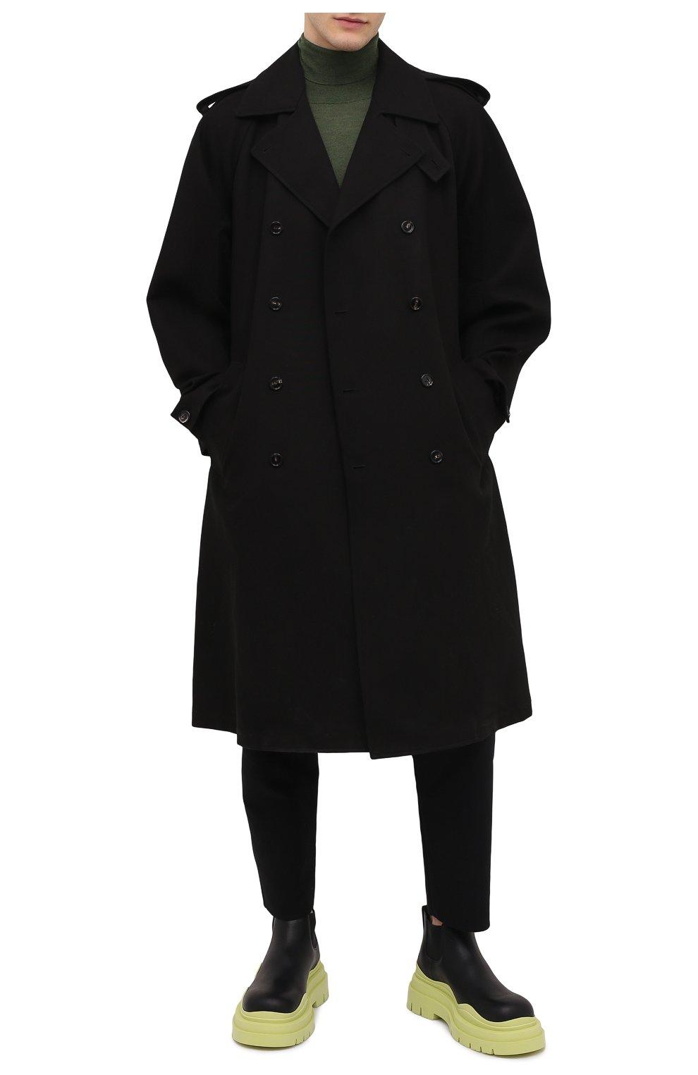 Мужские кожаные челси tire BOTTEGA VENETA светло-зеленого цвета, арт. 630281/VBS50 | Фото 2 (Каблук высота: Высокий; Материал внутренний: Натуральная кожа; Подошва: Массивная; Мужское Кросс-КТ: Сапоги-обувь, Челси-обувь)
