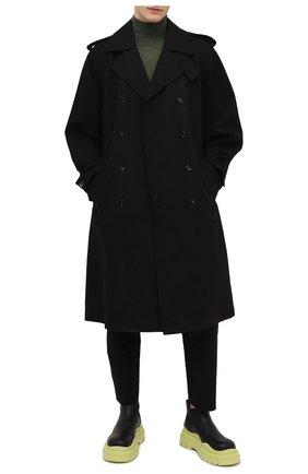Мужские кожаные челси tire BOTTEGA VENETA светло-зеленого цвета, арт. 630281/VBS50 | Фото 2 (Подошва: Массивная; Мужское Кросс-КТ: Сапоги-обувь, Челси-обувь; Каблук высота: Высокий; Материал внутренний: Натуральная кожа)
