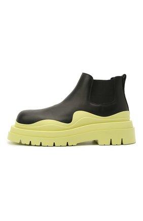 Мужские кожаные челси tire BOTTEGA VENETA светло-зеленого цвета, арт. 630281/VBS50 | Фото 3 (Каблук высота: Высокий; Материал внутренний: Натуральная кожа; Подошва: Массивная; Мужское Кросс-КТ: Сапоги-обувь, Челси-обувь)