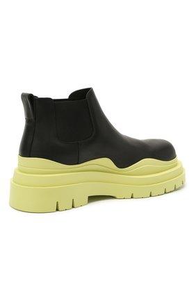 Мужские кожаные челси tire BOTTEGA VENETA светло-зеленого цвета, арт. 630281/VBS50 | Фото 4 (Каблук высота: Высокий; Материал внутренний: Натуральная кожа; Подошва: Массивная; Мужское Кросс-КТ: Сапоги-обувь, Челси-обувь)