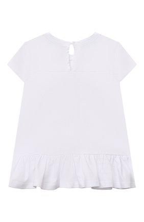 Детский хлопковая футболка MONNALISA белого цвета, арт. 317613P2. | Фото 2 (Материал внешний: Хлопок; Рукава: Короткие; Ростовка одежда: 12 мес | 80 см, 18 мес | 86 см)