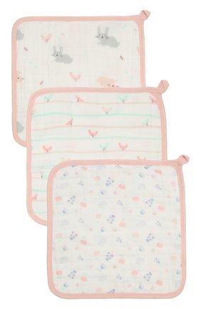 Детского комплект из трех полотенец ADEN+ANAIS розового цвета, арт. S663 | Фото 1 (Материал: Текстиль, Хлопок)