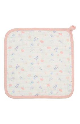 Детского комплект из трех полотенец ADEN+ANAIS розового цвета, арт. S663 | Фото 2 (Материал: Текстиль, Хлопок)
