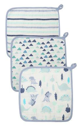 Детского комплект из трех полотенец ADEN+ANAIS светло-голубого цвета, арт. S664 | Фото 1 (Материал: Хлопок, Текстиль)