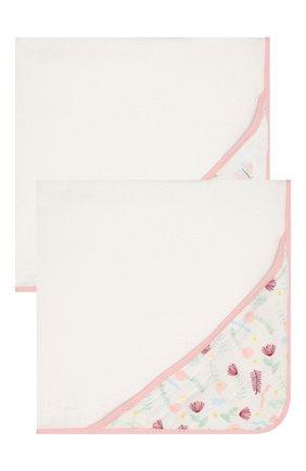 Детского набор из двух полотенец ADEN+ANAIS розового цвета, арт. EHTC20003B | Фото 1 (Материал: Хлопок, Текстиль)