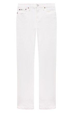 Детские джинсы POLO RALPH LAUREN белого цвета, арт. 323832717 | Фото 1 (Материал внешний: Хлопок; Ростовка одежда: 10 - 11 лет | 140 - 146см, 12 лет | 152 см, 13 - 15 лет | 158 см, 16 лет | 164 см, 9 лет | 134 см)