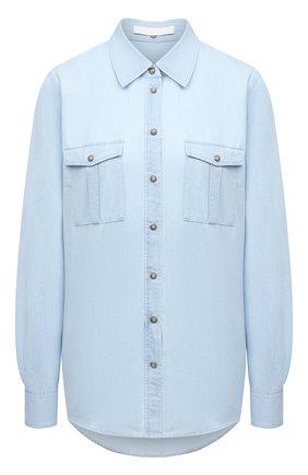 Женская джинсовая рубашка BOSS голубого цвета, арт. 50452866   Фото 1
