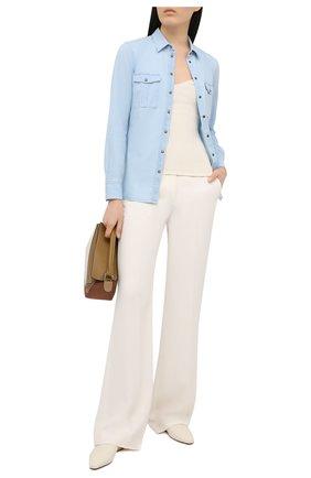 Женская джинсовая рубашка BOSS голубого цвета, арт. 50452866   Фото 2