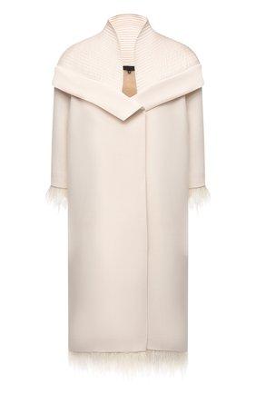 Женское платье из шерсти и шелка TEGIN кремвого цвета, арт. SC2142 | Фото 1