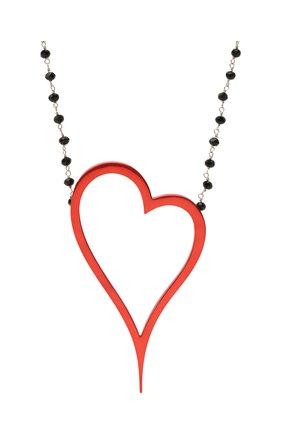 Женское колье алое сердце DZHANELLI красного цвета, арт. 1135 | Фото 2