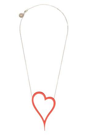 Женское колье алое сердце DZHANELLI красного цвета, арт. 1133 | Фото 1