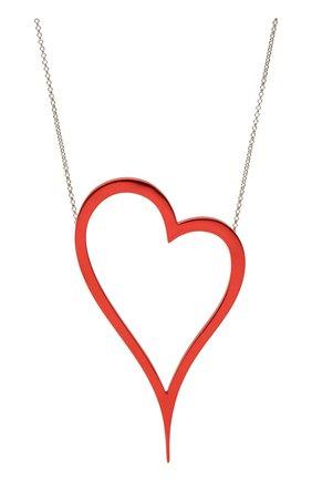 Женское колье алое сердце DZHANELLI красного цвета, арт. 1133 | Фото 2