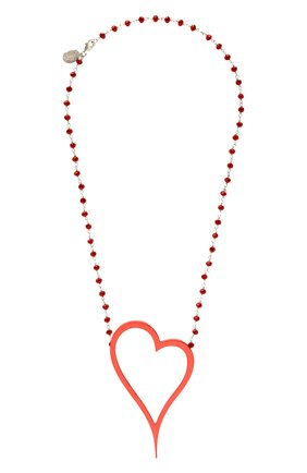 Женское колье алое сердце DZHANELLI красного цвета, арт. 1134 | Фото 1
