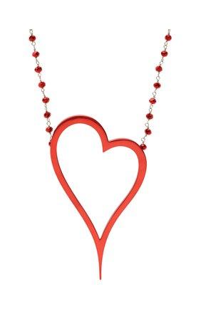 Женское колье алое сердце DZHANELLI красного цвета, арт. 1134 | Фото 2