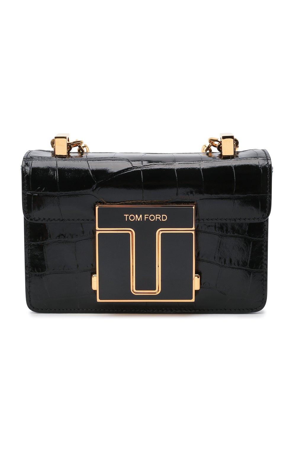 Женская сумка 001 small TOM FORD черного цвета, арт. L1384E-LCL150 | Фото 1