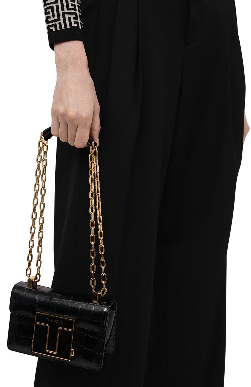 Женская сумка 001 small TOM FORD черного цвета, арт. L1384E-LCL150 | Фото 2