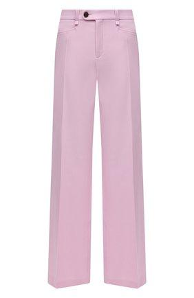 Женские шерстяные брюки CHLOÉ розового цвета, арт. CHC21UPA17166   Фото 1