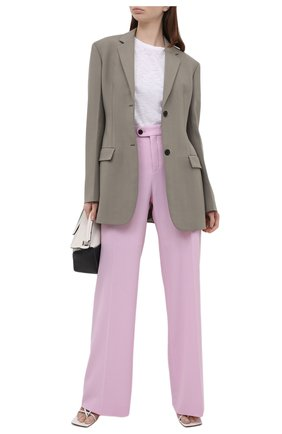 Женские шерстяные брюки CHLOÉ розового цвета, арт. CHC21UPA17166   Фото 2