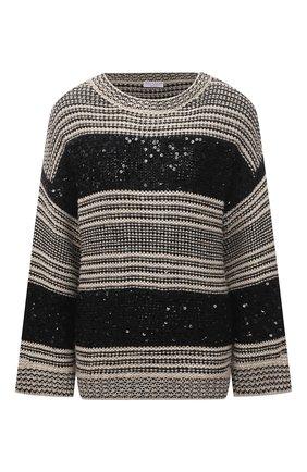 Женский свитер BRUNELLO CUCINELLI черно-белого цвета, арт. MBA380600 | Фото 1