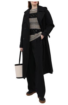 Женский свитер BRUNELLO CUCINELLI черно-белого цвета, арт. MBA380600 | Фото 2