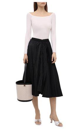 Женские кожаные мюли noor BY FAR белого цвета, арт. 21SSN0MWHCRE | Фото 2