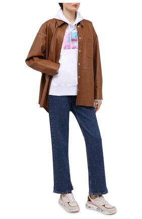 Женские комбинированные кроссовки scarlet PREMIATA коричневого цвета, арт. SCARLETT/VAR5118   Фото 2