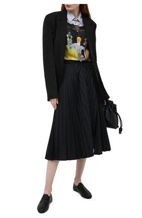 Женские кожаные слиперы elastico MARNI черного цвета, арт. BAMS002500/P3387 | Фото 2