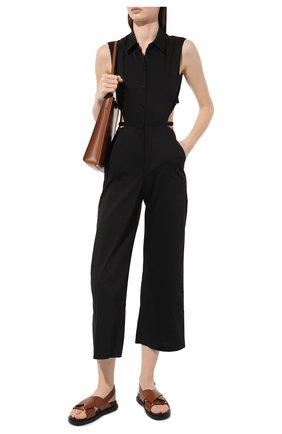 Женские кожаные сандалии MARNI коричневого цвета, арт. FBMS005201/P3614 | Фото 2
