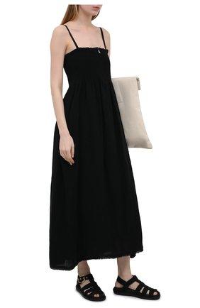 Женские текстильные сандалии MARNI черного цвета, арт. FBMS012101/P3707 | Фото 2