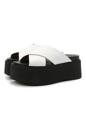 Женские кожаные сабо fussbett MARNI белого цвета, арт. ZPMS006006/P4030 | Фото 1