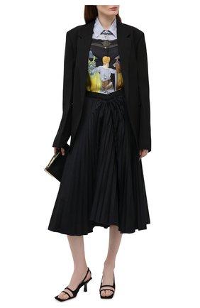 Женские текстильные босоножки rhodes KHAITE черного цвета, арт. F3014-452/RH0DES | Фото 2