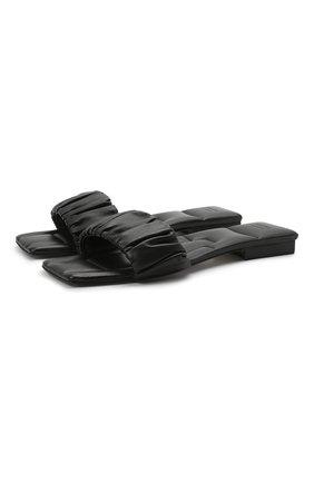 Женские кожаные шлепанцы crete KHAITE черного цвета, арт. F4025-723/CRETE | Фото 1
