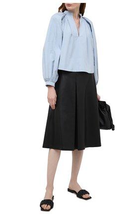 Женские кожаные шлепанцы crete KHAITE черного цвета, арт. F4025-723/CRETE | Фото 2