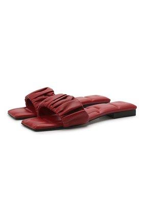 Женские кожаные шлепанцы crete KHAITE красного цвета, арт. F4025-723/CRETE | Фото 1