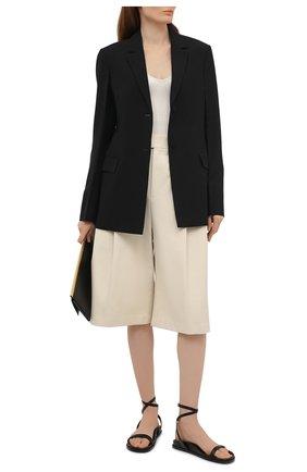 Женские кожаные сандалии ALEXANDRE VAUTHIER черного цвета, арт. A0KIFLTAF0RM | Фото 2