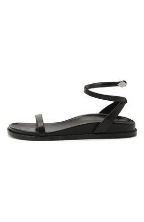 Женские кожаные сандалии ALEXANDRE VAUTHIER черного цвета, арт. A0KIFLTAF0RM | Фото 3