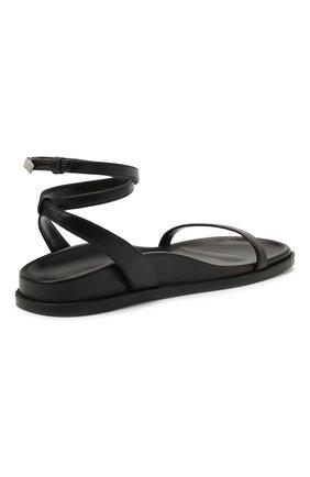 Женские кожаные сандалии ALEXANDRE VAUTHIER черного цвета, арт. A0KIFLTAF0RM | Фото 4