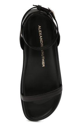 Женские кожаные сандалии ALEXANDRE VAUTHIER черного цвета, арт. A0KIFLTAF0RM | Фото 5
